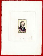 France 1958 #872, Artist Signed Die Proof, Hand Colored, Chemist, Berthollet