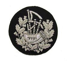 Badge Pipe Major Silver on Black R1211