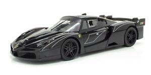 FERRARI FXX EVOLUZIONE BLACK 1/18 DIECAST MODEL CAR BY HOTWHEELS T6920