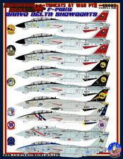 Fightertown Decals 48085 1:48 Tomcat F-14B D At War Part 2-Bravo Delta Showboats