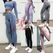 Women's Seamless Leggings Crop Top Gym Contour Sportswear Yoga Training Fitness
