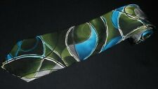 J Garcia Tie Emerging Elephant Watercolor Artist Blue Green Abstract Printed Men