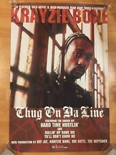 "Rare KRAYZIE BONE THUGS-N-HARMONY Thug On Da Line 24"" x 36"" 2-Sided Promo Poster"