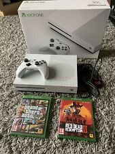 Xbox One S 500gb In Original Box With Controller, Battery Pack, Leads & 2 Games