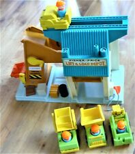 Fisher Price Lift and Load Depot voiture camion personnage vintage