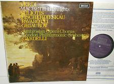 SET 539 Verdi Macbeth Highlights Suliotis Fischer-Dieskau Ghiaurov Pavarotti