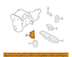 NISSAN OEM ENGINE-Front mount bracket Right 112321PM0A