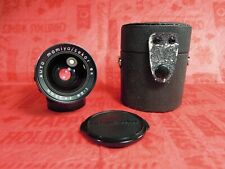 Auto Mamiya Sekor SX 35mm F2.8  lens with case and caps m42 RARE