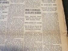 1929 MARCH 17 NEW YORK TIMES - SNOOK IS DISMISSED AS ATLANTA WARDEN - NT 6627