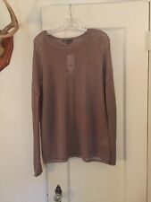 NWT VINCE crew Neck Sweater Taupe RV 225 Medium Women's Rayon Blend