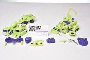 Vintage G1 Transformers CONSTRUCTICONS DEVASTATOR Lot - HASBRO