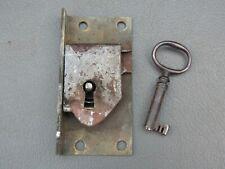Antique Grandfather Longcase clock door lock & key spares parts