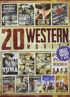 20-Movie Western FILMS 4 DVD Burl Ives Willie Nelson Brand New sealed ships FAST