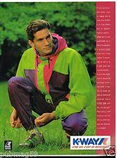 Publicité Advertising 1989 Les Vetements manteau K Way