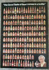 """Vintage 1978 Rare Beer Poster """"Good Taste of Beer comes in a Bottle"""" -Schenkel"""