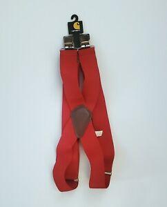 "Carhartt Red Suspenders 52"" Length - New!"