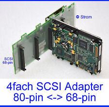 Adattatore SCSI UW 68pin - > 4x80pin SCSI SCA Warm Backplane 68pin 80pin -17