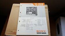 sony tc-252d service manual