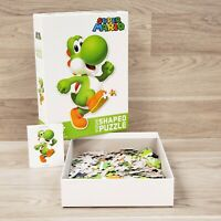 USAopoly Yoshi Shaped 200 PC Jigsaw Puzzle Nintendo Super Mario COMPLETE