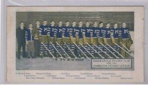 1930-31 MINNEAPOLIS MILLERS AHL ORIGINAL TEAM ISSUE HOCKEY 4x7 PHOTO NHL PLAYERS