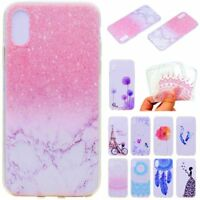 For iPhone X SE 5 6 6s 7 8 plus Patterned Soft Silicone TPU Back Case Cover Skin