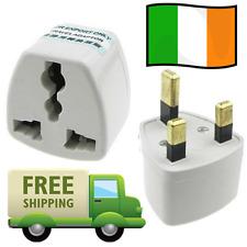 Universal AU EU US to IRISH UK AC Plug Adapter Travel Power Converter