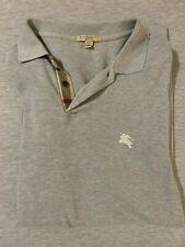 Burberry Brit Men's Short-Sleeve Pique Polo Shirt Nova Check Pattern Gray