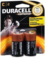 Duracell Coppertop C Alkaline Batteries 1.5 Volt 2 Each (Pack of 2)