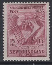 NEWFOUNDLAND SG246 1933 15c CLARET MTD MINT