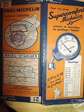 carte michelin 21 basel st gallen 1934