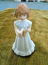 Growing Up Birthday Girl Brunette Figurine Age 6 Enesco 1982
