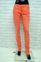 Pantalone GAS Donna Taglia Size W32 L34 Jeans Skinny Slim Fit Elastico Rosa