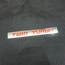 1PC TWIN TURBO Red Chrome Metal Emblem Sticker Badge Decal Engine Drive Sedan v8