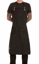 Tattoo work apron, heavy duty waxed canvas apron from Black n' Gold Legacy