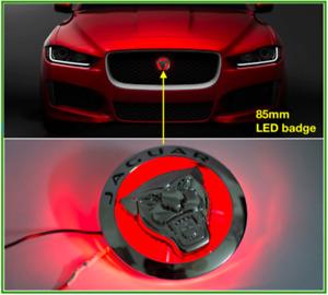 86MM LED Front Grille Emblem Badge  For Jaguar XF XJ XJL XK Red Growler