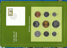 Coin Sets of All Nations Malta 1972 - 1982 2 & 3 Mils 1982 UNC 2 cent 1982