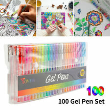 100PCS Gelschreiber Gelstifte Neon Glitter Gel pens Gelmalstifte Malstifte DE