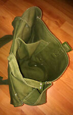 vintage Romanian military army canvas bag green messenger bag cross body bag