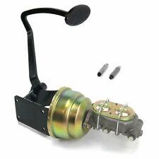 40-48 Chevy 7 Dual Brake Pedal kit Drum/DrumLg Oval Blk Pad street master