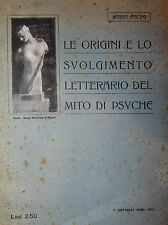 RARO - Facini: Origini e Svolgimento letterario mito Psyche 1918 dedica autrice