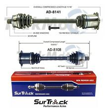 For Audi S4 AWD 2004-2009 Pair of Front CV Axle Shaft Assemblies SurTrack Set