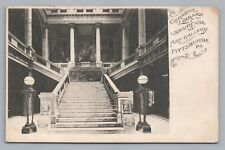 Carnegie Library—Art Gallery Staircase—Pittsburgh PA Rare Antique UDB 1908