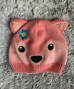 Baby Hat Animal Red Fox 3-9 Months Photography Prop Fall Winter Cap Cute Peach