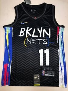 2021 Kyrie Irving Jersey #11 Brooklyn Nets City Edition Size S-2XL