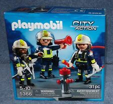 PLAYMOBIL CITY ACTION FIRE FIGHTERS RESCUE CREW SET #5366