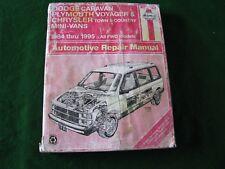 Haynes Dodge Caravan Plymouth Voyager propietarios taller Manual-de 1984 a 1995