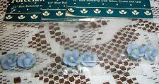 Duncan Flowers Porcelain Blue Buttercups w/ Leaves Artificial Floral Crafts, Art