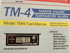 Boat - Marine Engine Temperature Alarm , TM4 Twin Sensor - Reads Port/Starboard