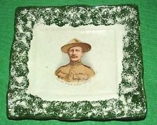 c1900 Sunderland Boy Scout Baden Powell Pottery Plaque