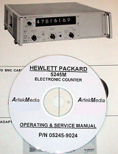 Hewlett Packard Operating & Service Manual w/ Schematics for the 5245M Counter
